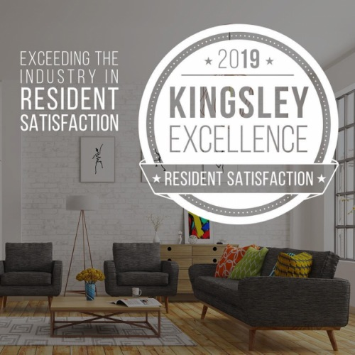 We are Kingsley Excellent!! #residentsatisfaction #kingsleyexcellence #greystar