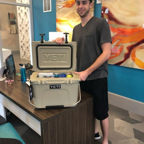 We have a winner!! Josh is the new proud owner of this yeti cooler and all the goodies tucked away inside. A HUGE thank you to everyone who donated and helped us raise money for Camp Hope! #camphope #circauptown #raffle #donatetoagoodcause