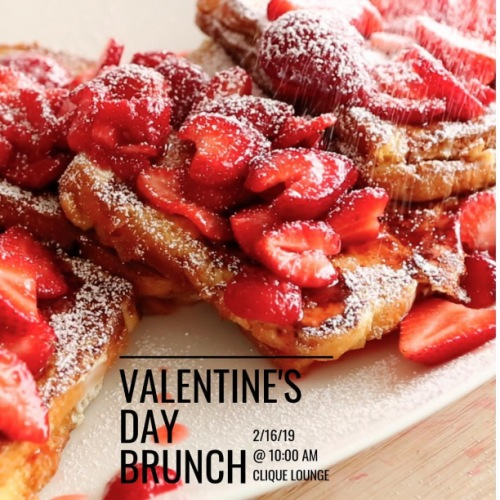 Come celebrate Valentine's Day with us tomorrow morning at 10 AM as @chefskitchenclt will be providing some strawberry French toast and tropical belinnis