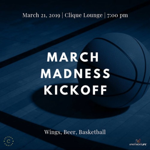 TOMORROW || Join us in the Clique Lounge to enjoy some @tacomacofficial wings, beer, and basketball. We will get started at 7:00! We hope to see you there